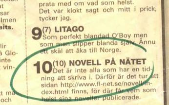 Expressen skriver om Novell.nu